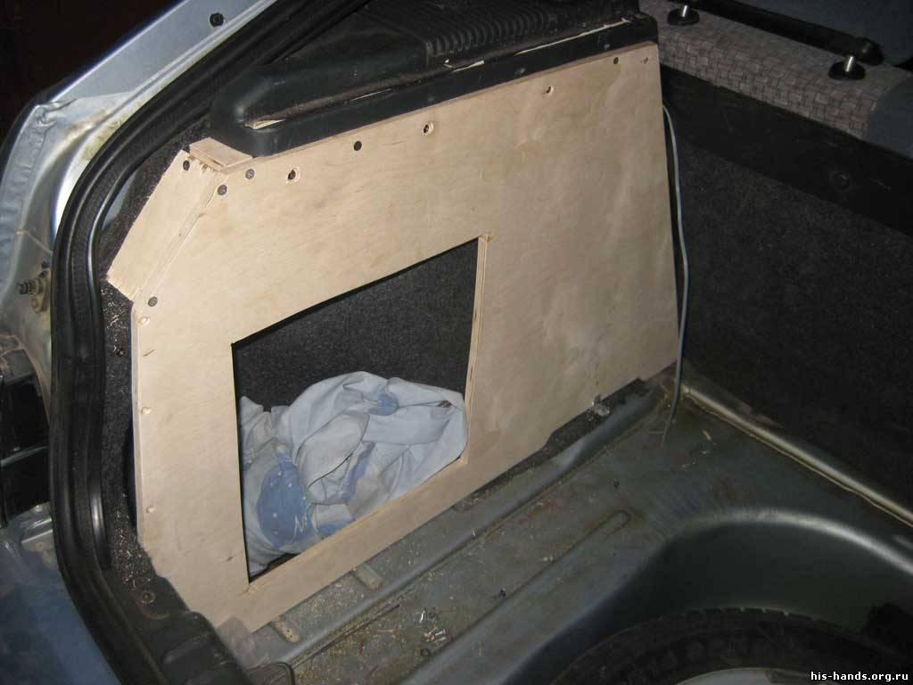 Полка для багажника своими руками